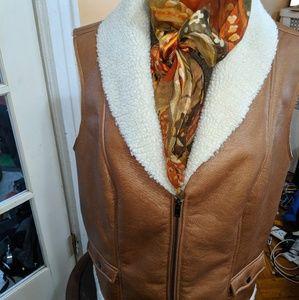 Ashley Stewart Faux shearling vest